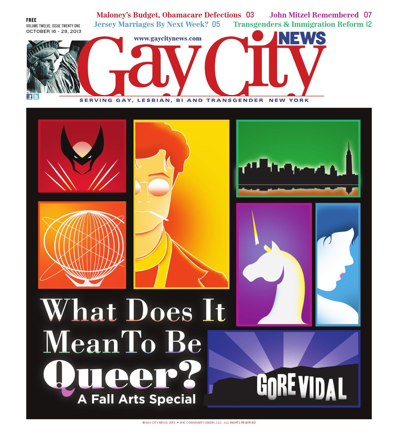 Latest News About Immigration Reform 2013: GAY CITY NEWS, OCT. 16, 2013 By NYC COMMUNITY MEDIA