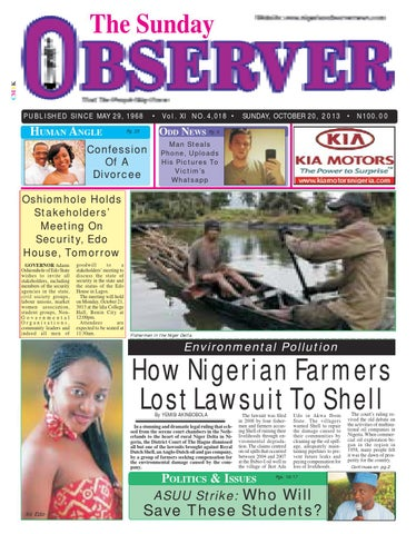 Nigerian observer 20 10 2013