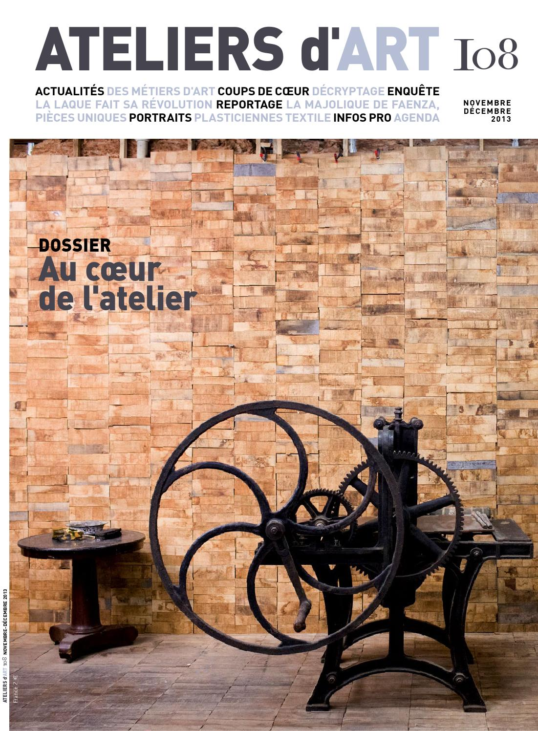 Issuu magazine ateliers d 39 art 108 by ateliers d 39 art de france - Ateliers d arts de france ...