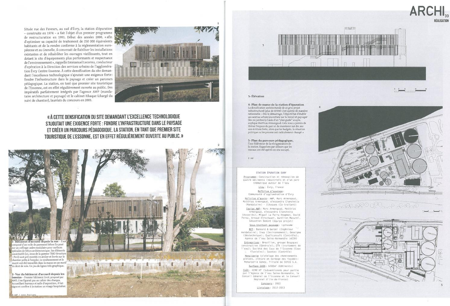 Page Architecture connu