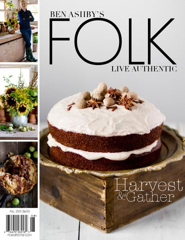 FOLK Fall 2013: Harvest & Gather cover