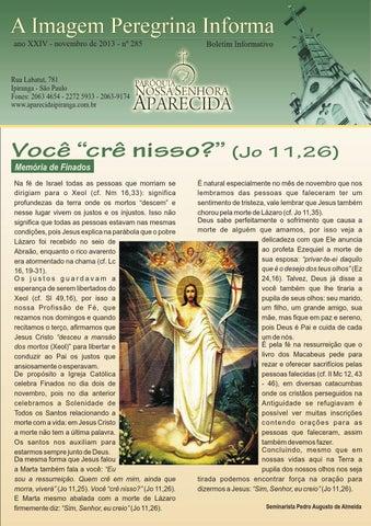 [A Imagem Peregrina Informa novembro/2013]