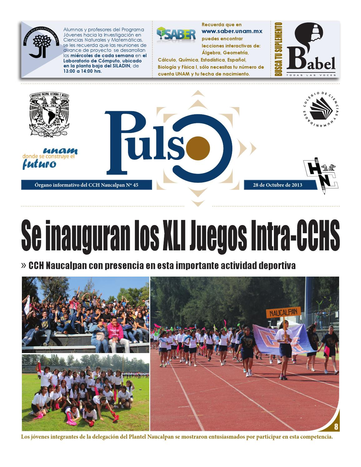 ISSUU - Pulso 45 by Pulso CCH Naucalpan
