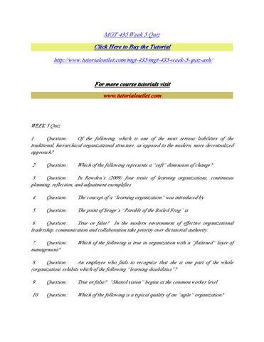 mgt 450 week 4 quiz
