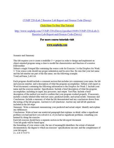 comp 220 lab 4