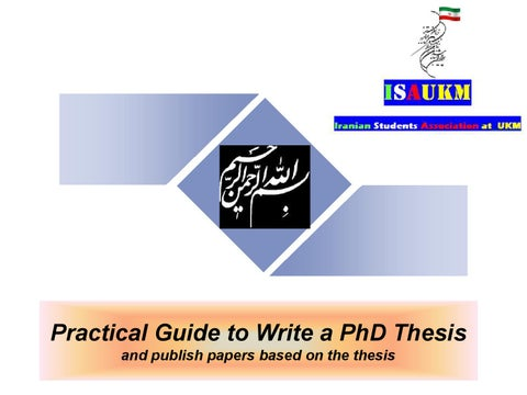 Write Phd Thesis Abstract