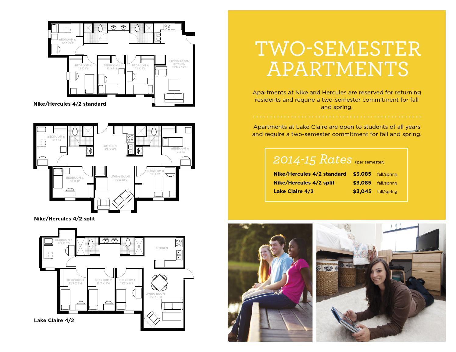 ucf housing floor plans 2014 15 by university of central florida page