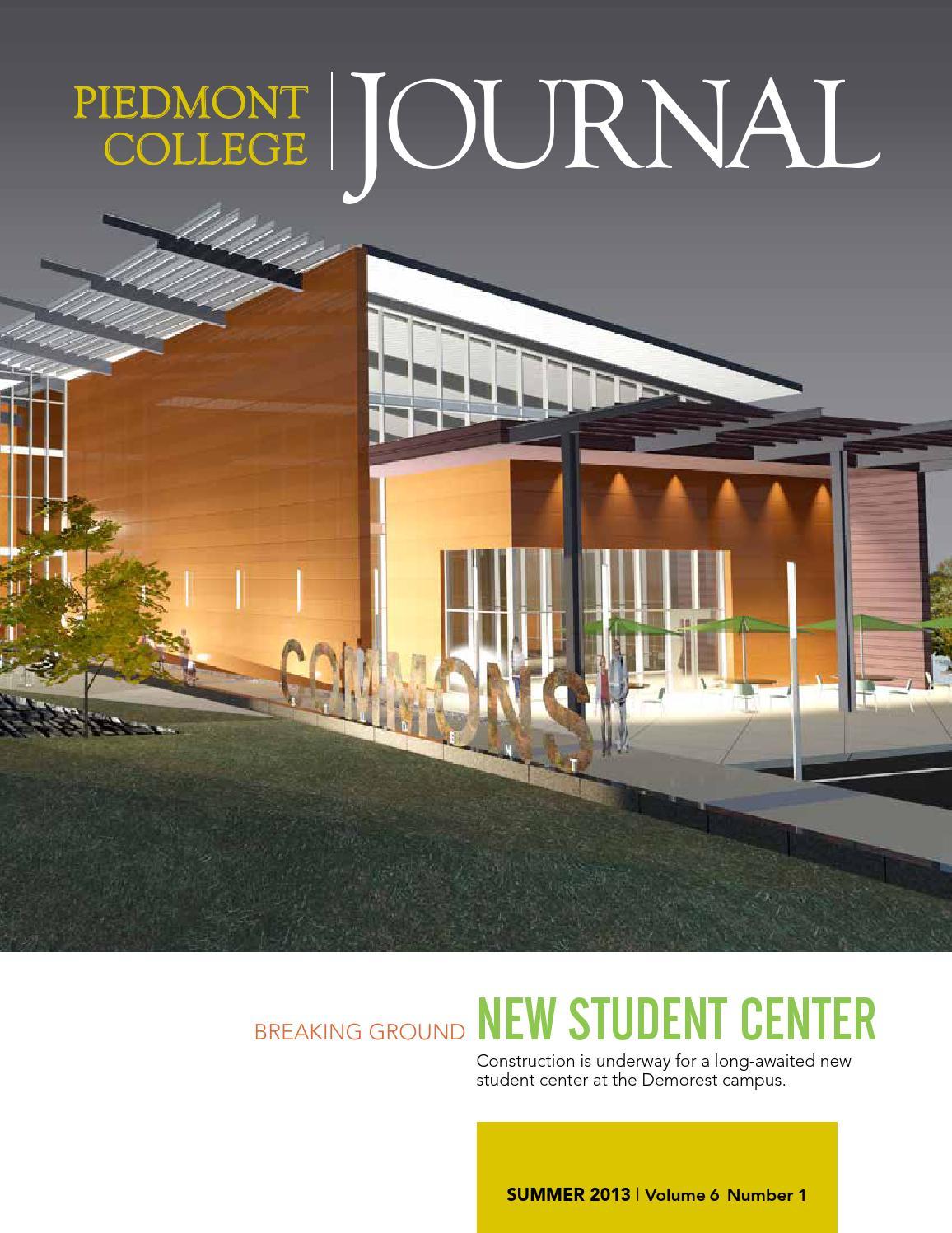 ISSUU Piedmont Journal Summer 2013 By College