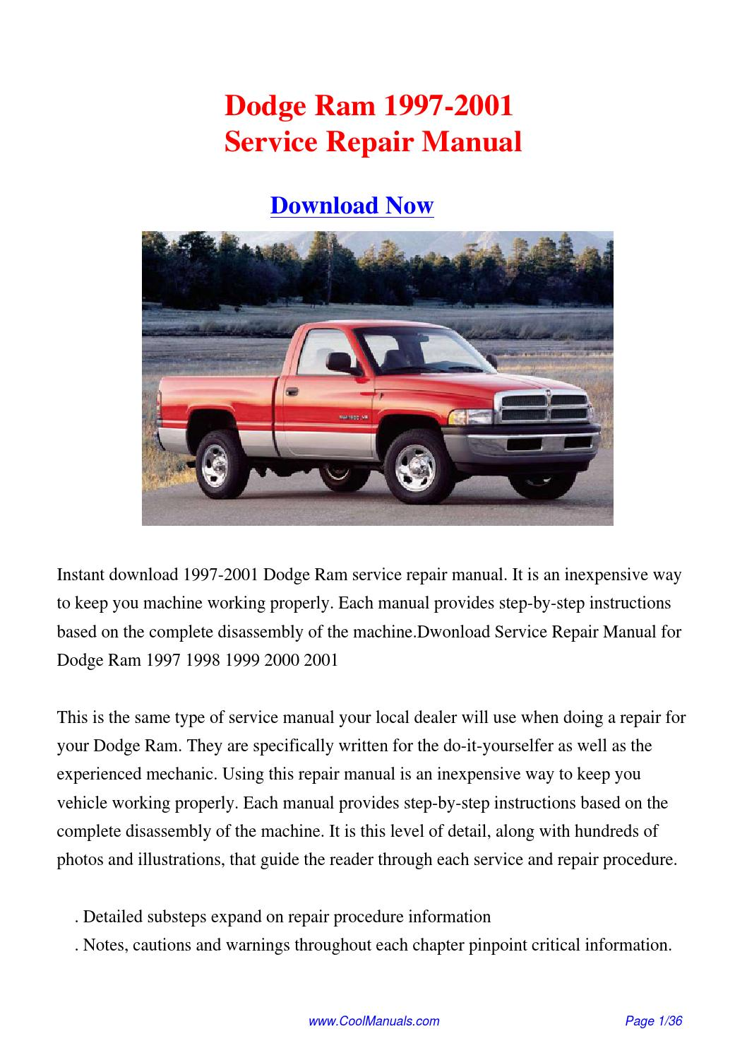 1997 dodge cummins service manual