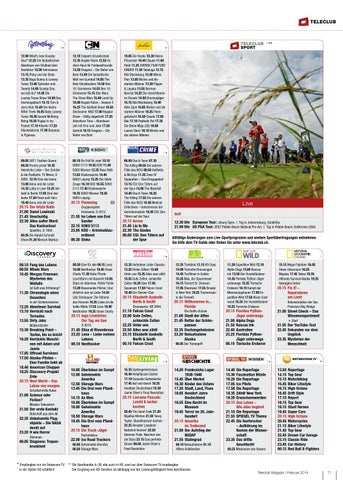 Issuu teleclub magazin februar 2014 by teleclub ag for Spiegel ice pilots