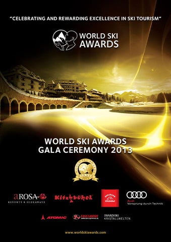 World Ski Awards Gala Ceremony 2013 programme