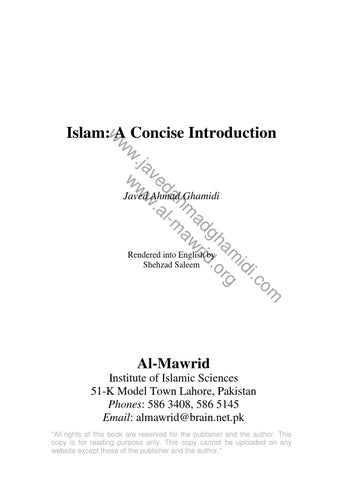 Islam – A Concise Introduction