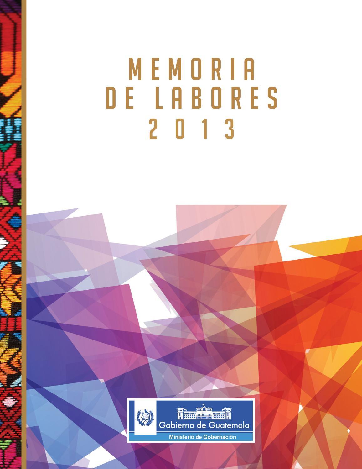 Issuu memoria de labores mingob 2013 by ministerio de for Ministerio de gobernacion