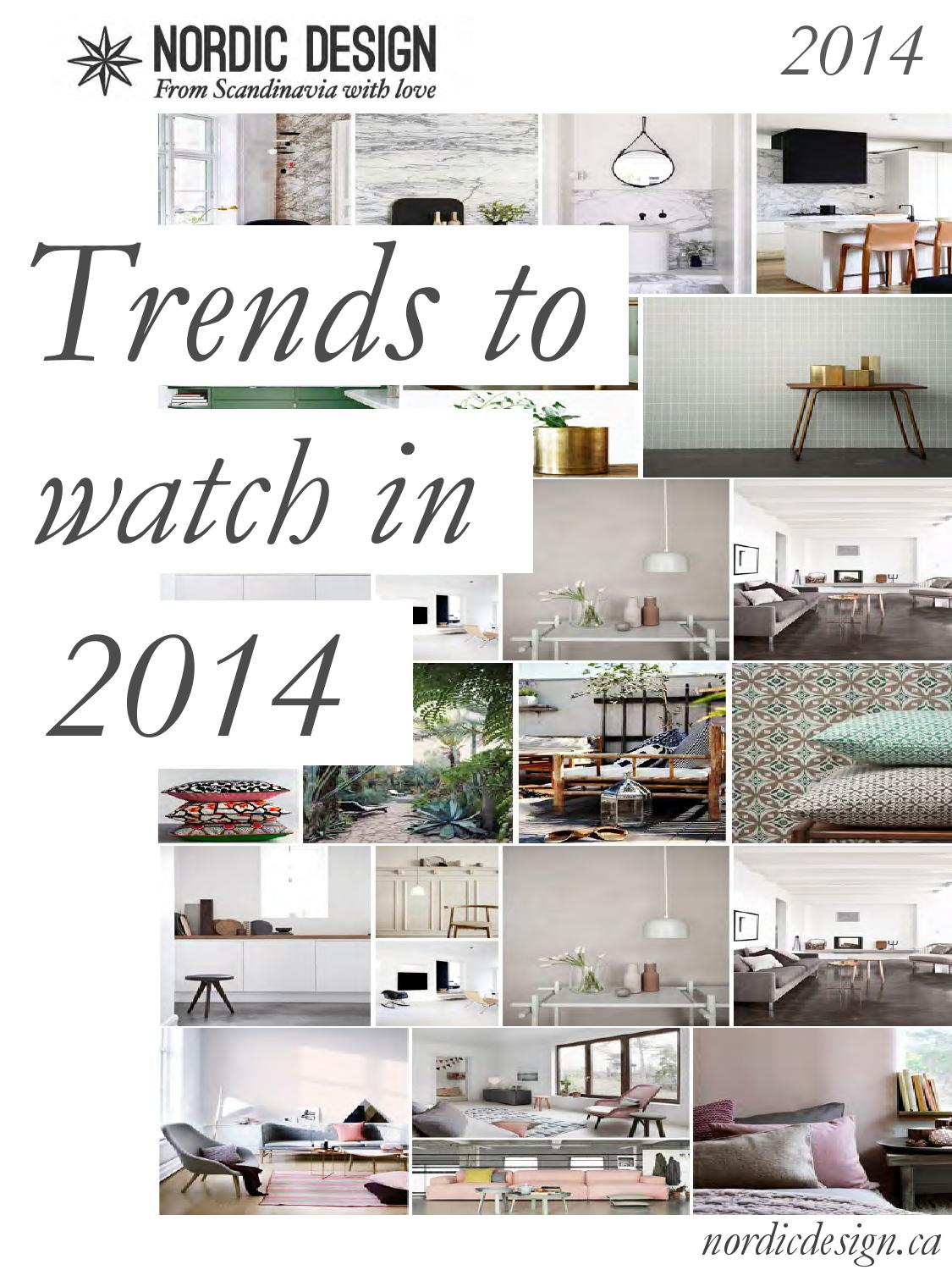 Issuu home decorating trends 2014 by nordic design Home design trends 2014