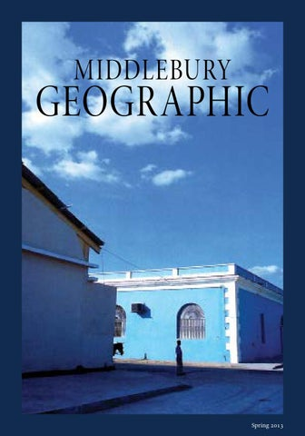 Middlebury Geographic Spring 2013
