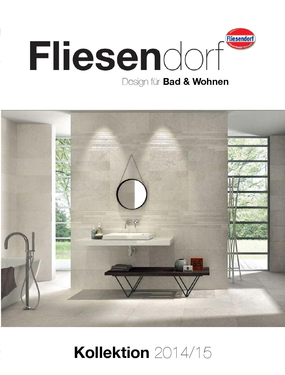 Issuu fliesendorf kollektion 2014 2015 by for Badezimmer 7 quadratmeter
