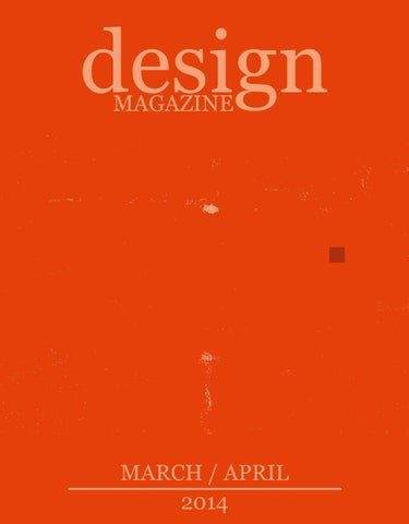 DESIGN MAGAZINE 16 (MARCH/APRIL 2014) cover