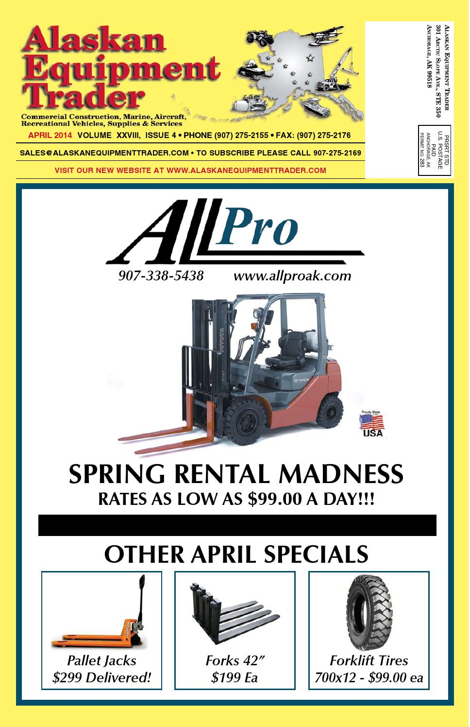 Parts Heavy Equipment Trader : Issuu alaskan equipment trader april by morris