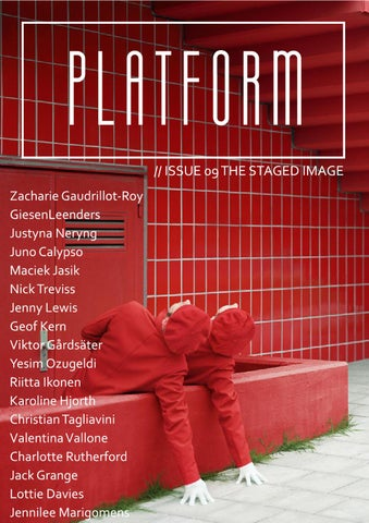 PLATFORM Magazine Issue 09: The Staged Image cover