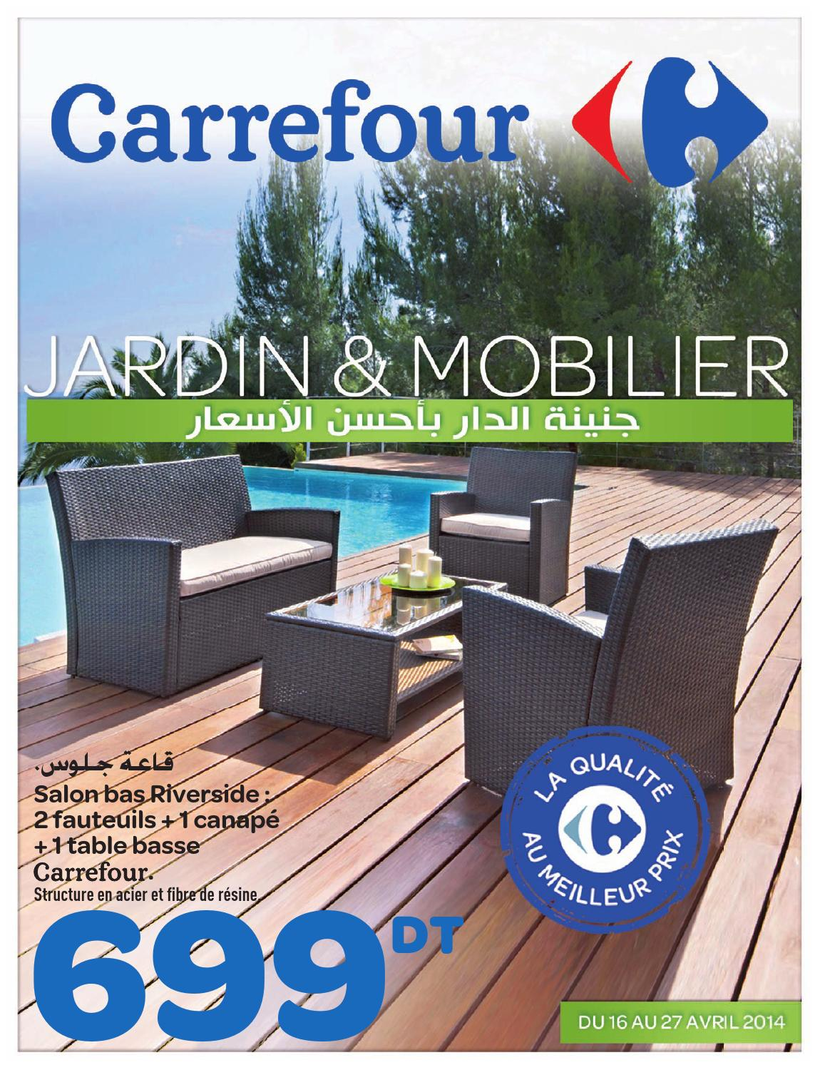 Catalogue carrefour jardin et mobilier by carrefour tunisie for Table exterieur carrefour