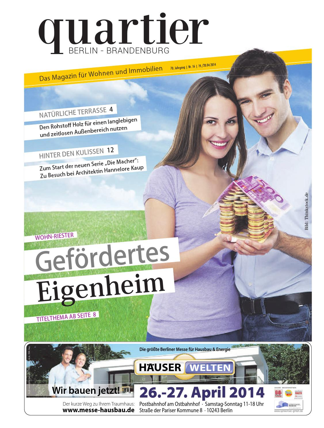 Issuu quartier gef rdertes eigenheim by berlin medien gmbh for Eigenheim berlin