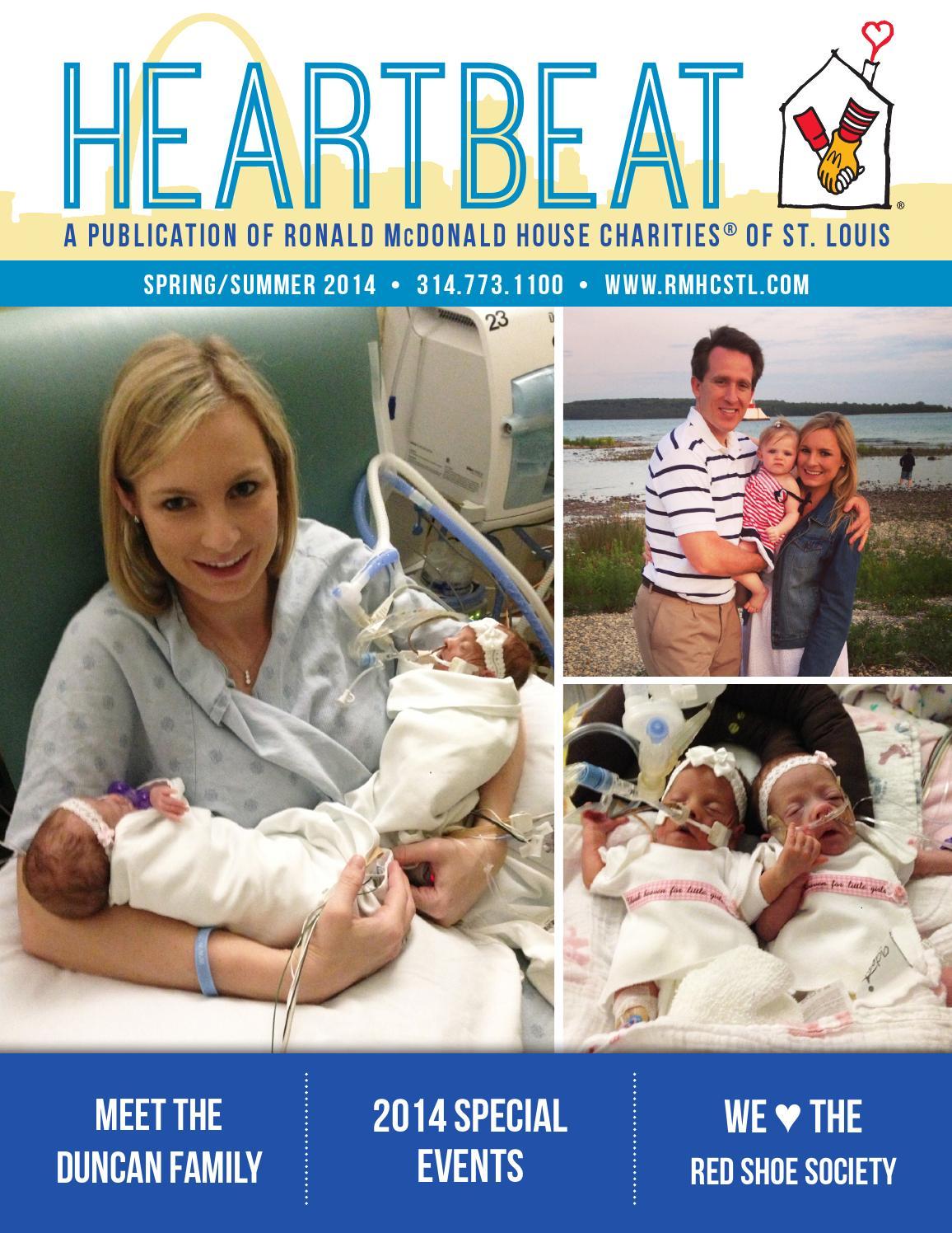 springsummer 2014 heartbeat newsletter by ronald mcdonald