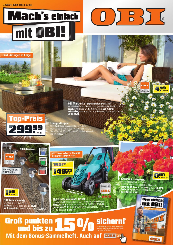 issuu obi angebote 24april 3mai2014 by. Black Bedroom Furniture Sets. Home Design Ideas