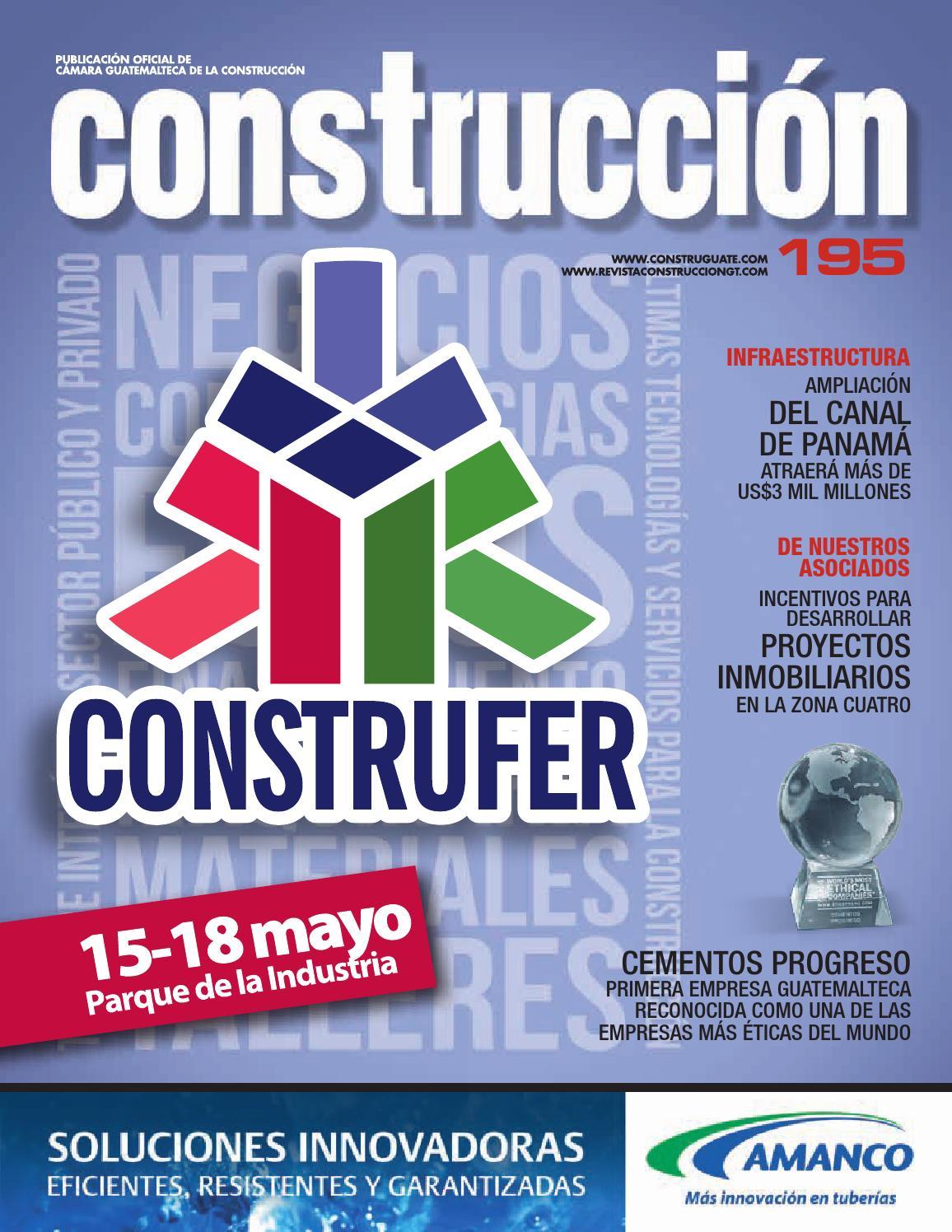 ISSUU - Revista construcción 195 by Cámara Guatemalteca de la ...