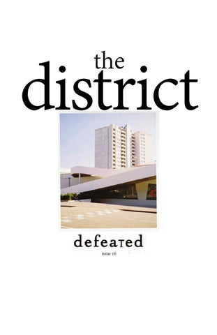 Defeated Zine #16 The Distric issue cover
