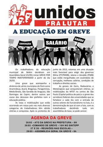 A EDUCAÇÃO DE BELÉM-PA EM GREVE!