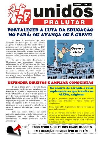 Educação do Estado do Pará em mobilização