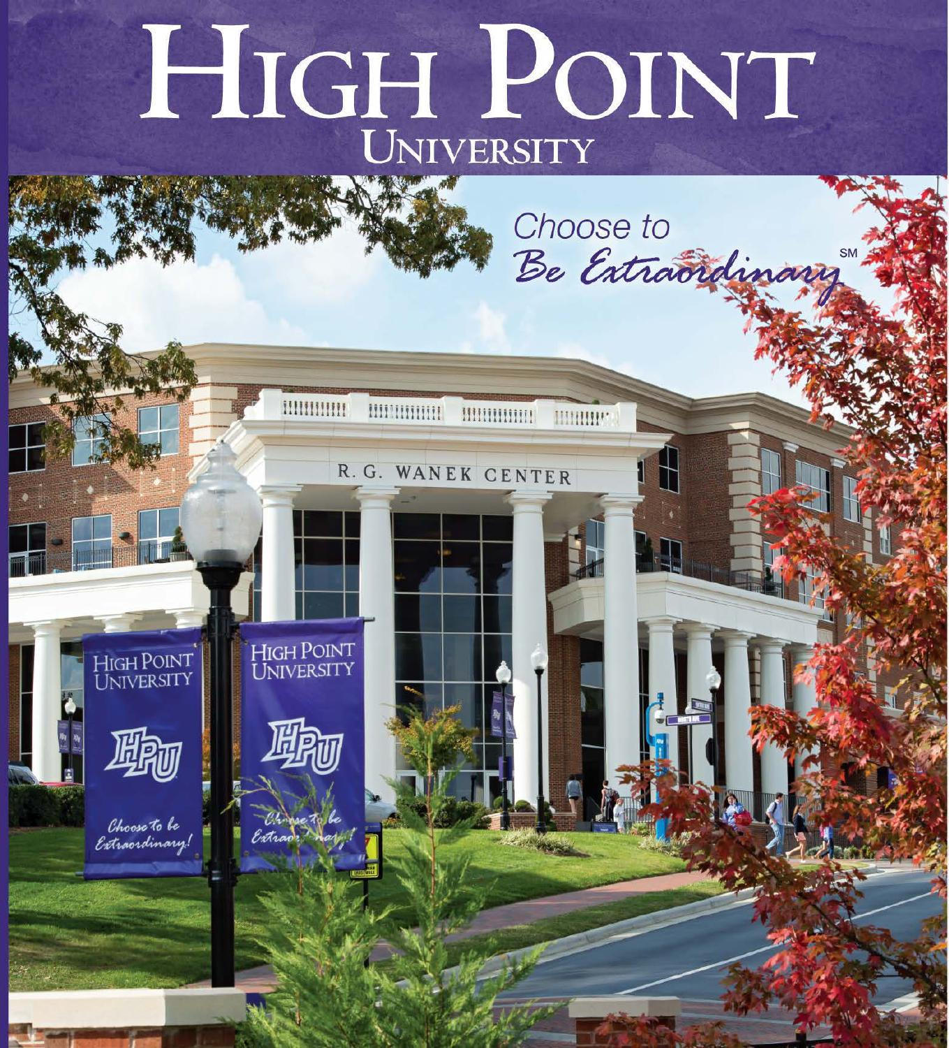 High point university 2014 viewbook by high point university for High pointe