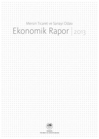 2013 Yılı Mersin Ekonomik Raporu