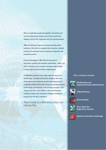 Fike Company Brochure