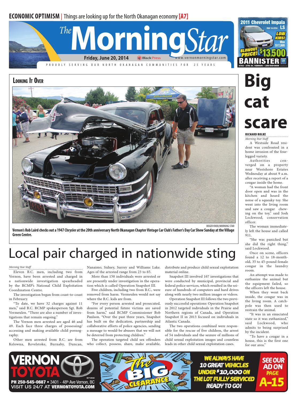 Issuu Vernon Morning Star June 20 2014 By Black Press