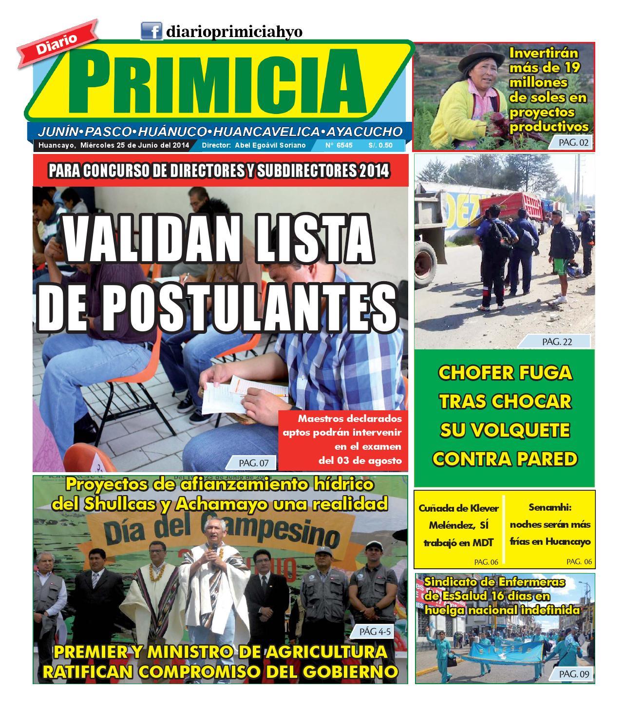 diario primicia impresa 25 06 14 by diario primicia issuu