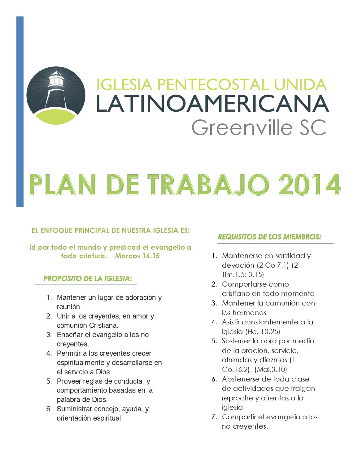 Issuu plan trabajo 2014 pdf by ipul greenville sc