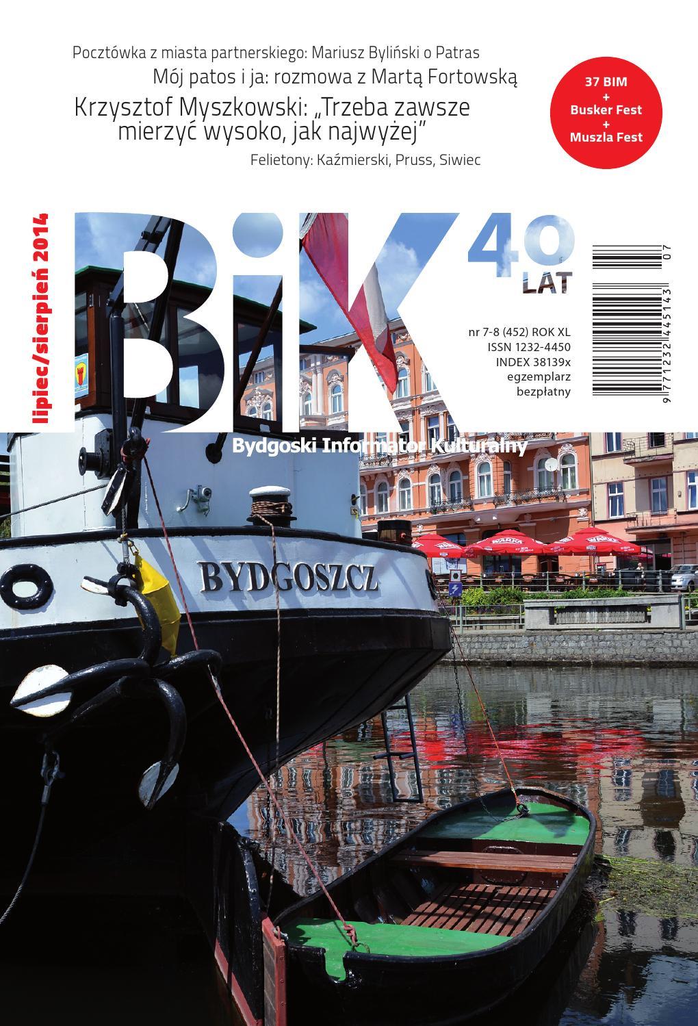 ISSUU - BIK 7-8/2014 by Miejskie Centrum Kultury w Bydgoszczy