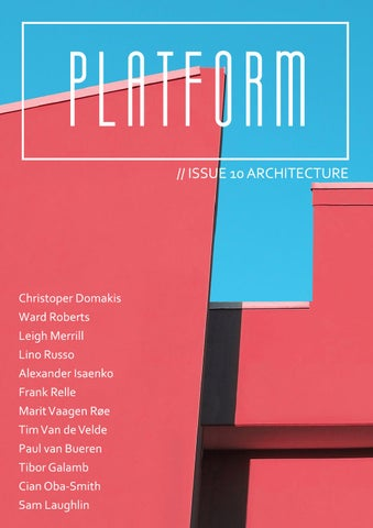 PLATFORM Magazine Issue 10: Architecture cover