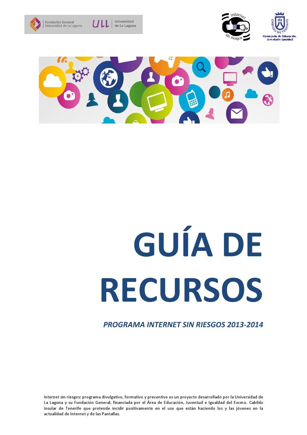 Gu a de recursos on line del programa internet sin riesgos - Guia de tenerife pdf ...