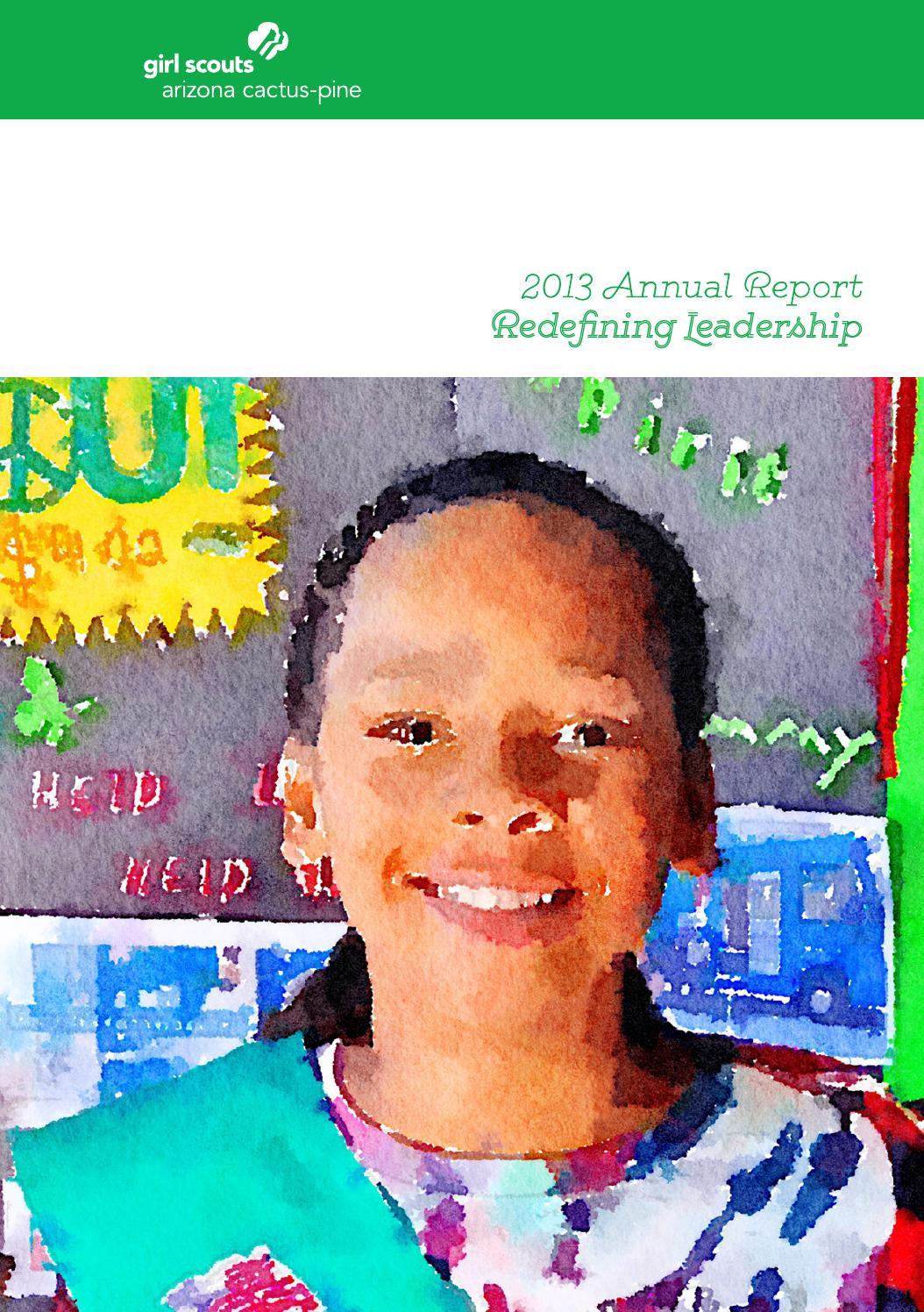 girl scouts arizona cactus pine council 2013 annual report