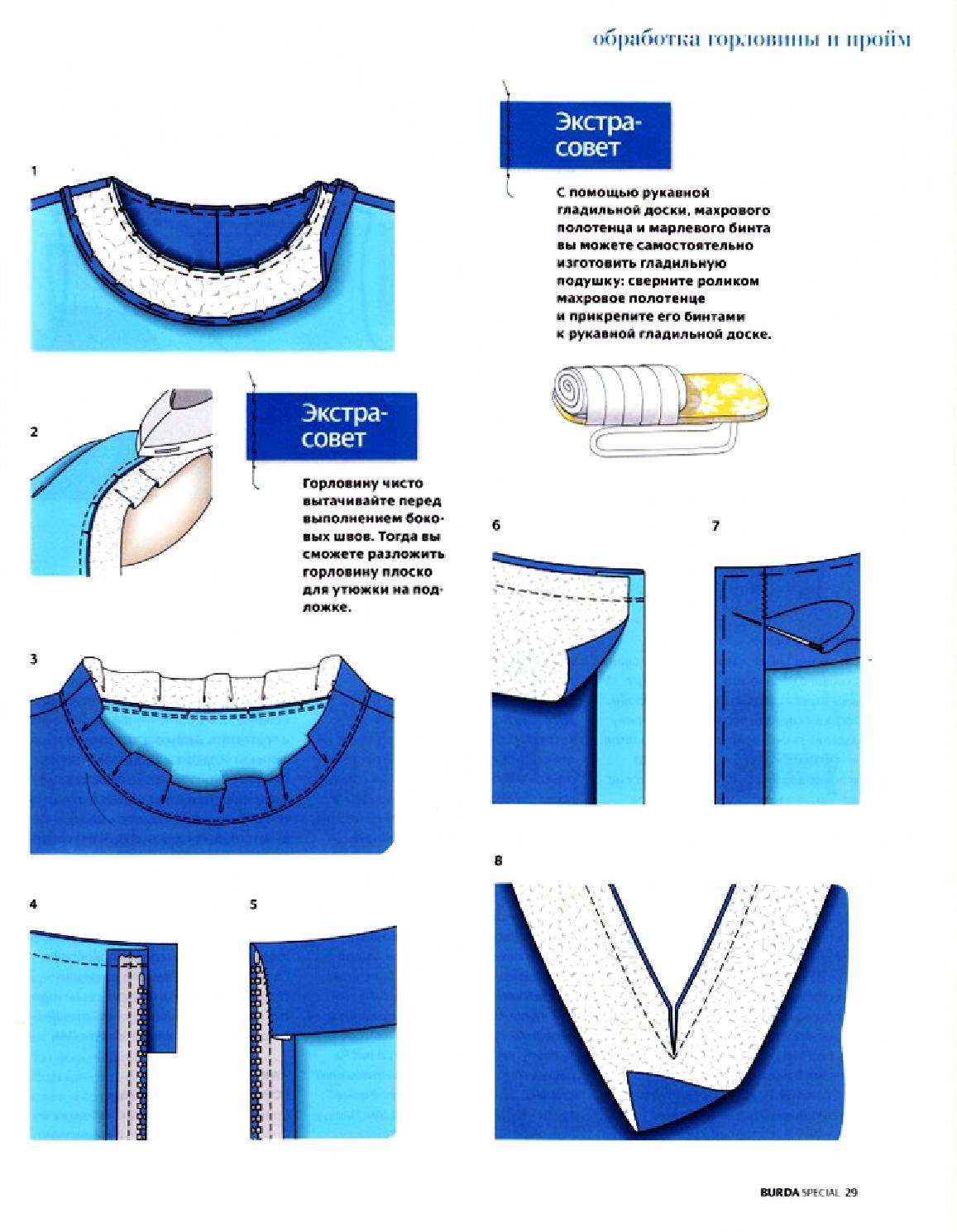 Как сделать квадратную горловину на ткани