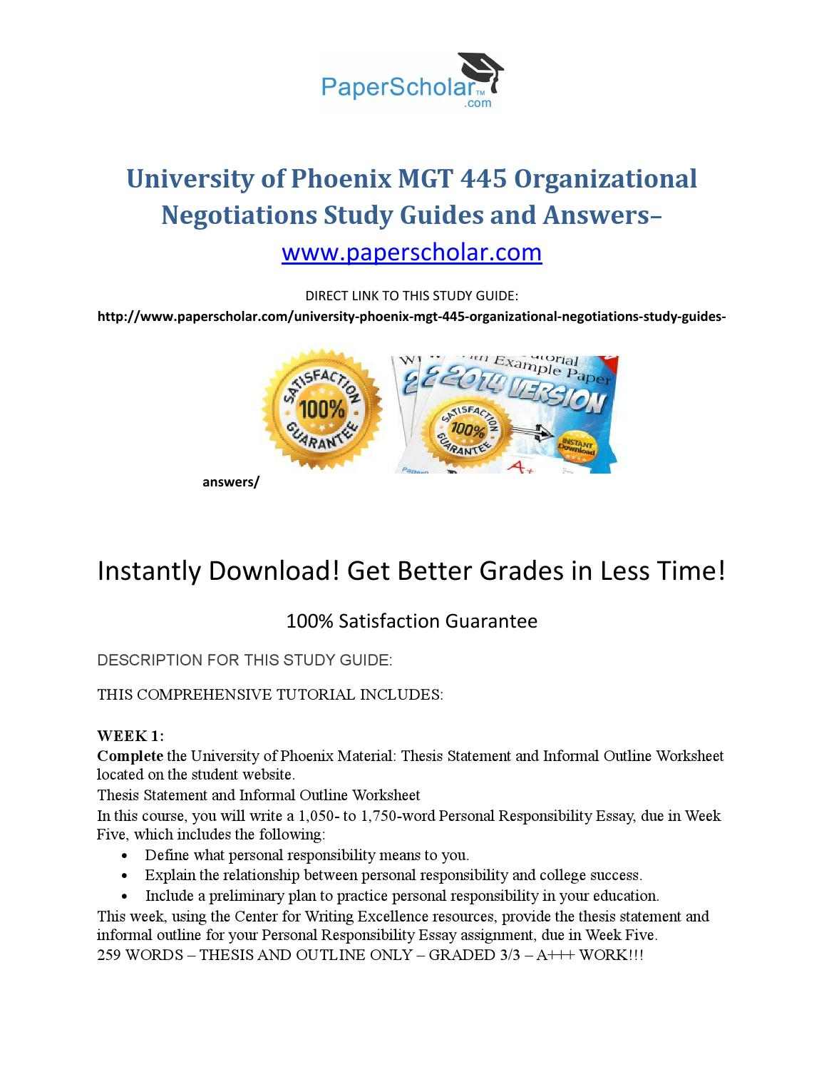 thesis statement and outline university of phoenix Free essays on outline and thesis statement guide healthy eating 156 university of phoenix material outline and thesis statement guide create an outline that.