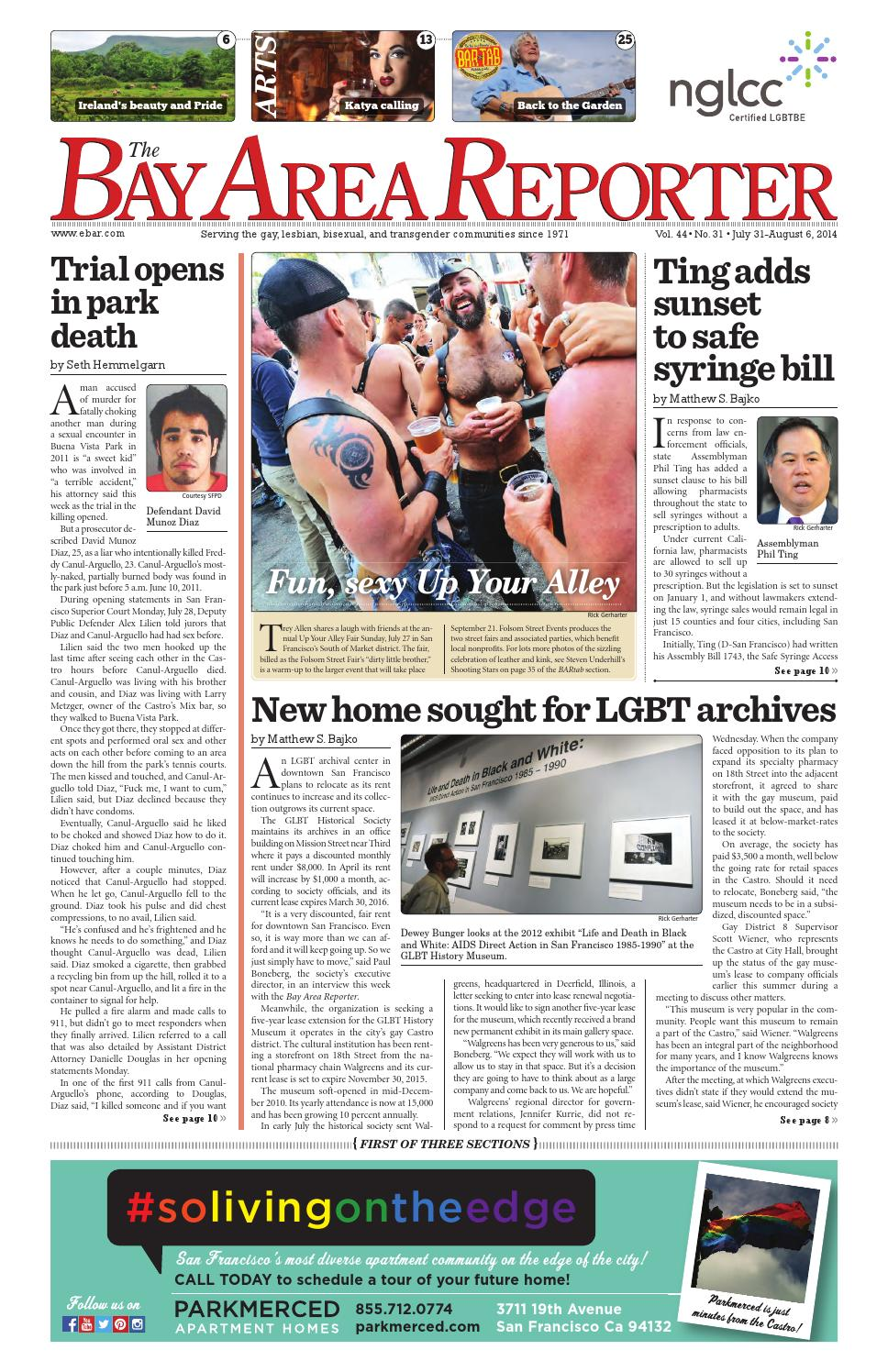 Bay Area Reporter : Issuu july edition of the bay area reporter by