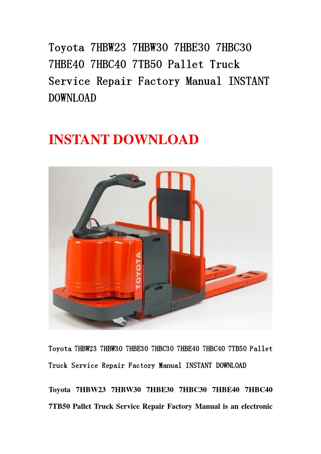 Toyota 7hbw23 Service Manual