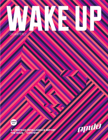 Wake Up: A Strategic Intel Report on Content cover