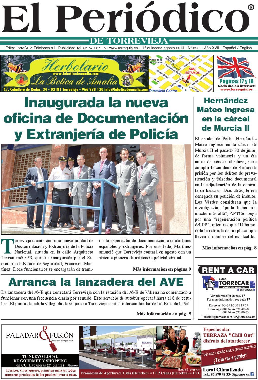 Issuu el peri dico de torrevieja n 529 by torregu a for Oficina extranjeria murcia