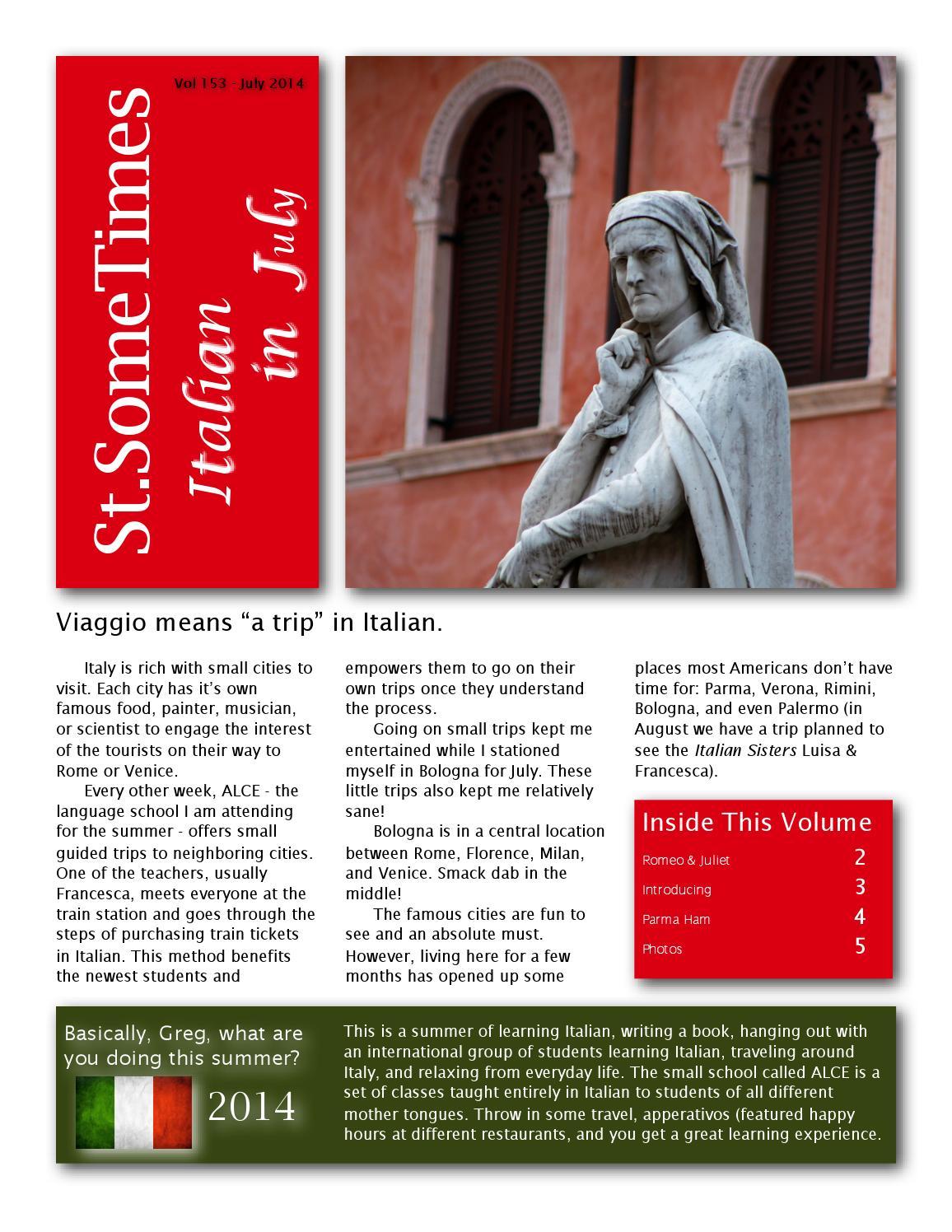 St.SomeTimes - Magazine cover