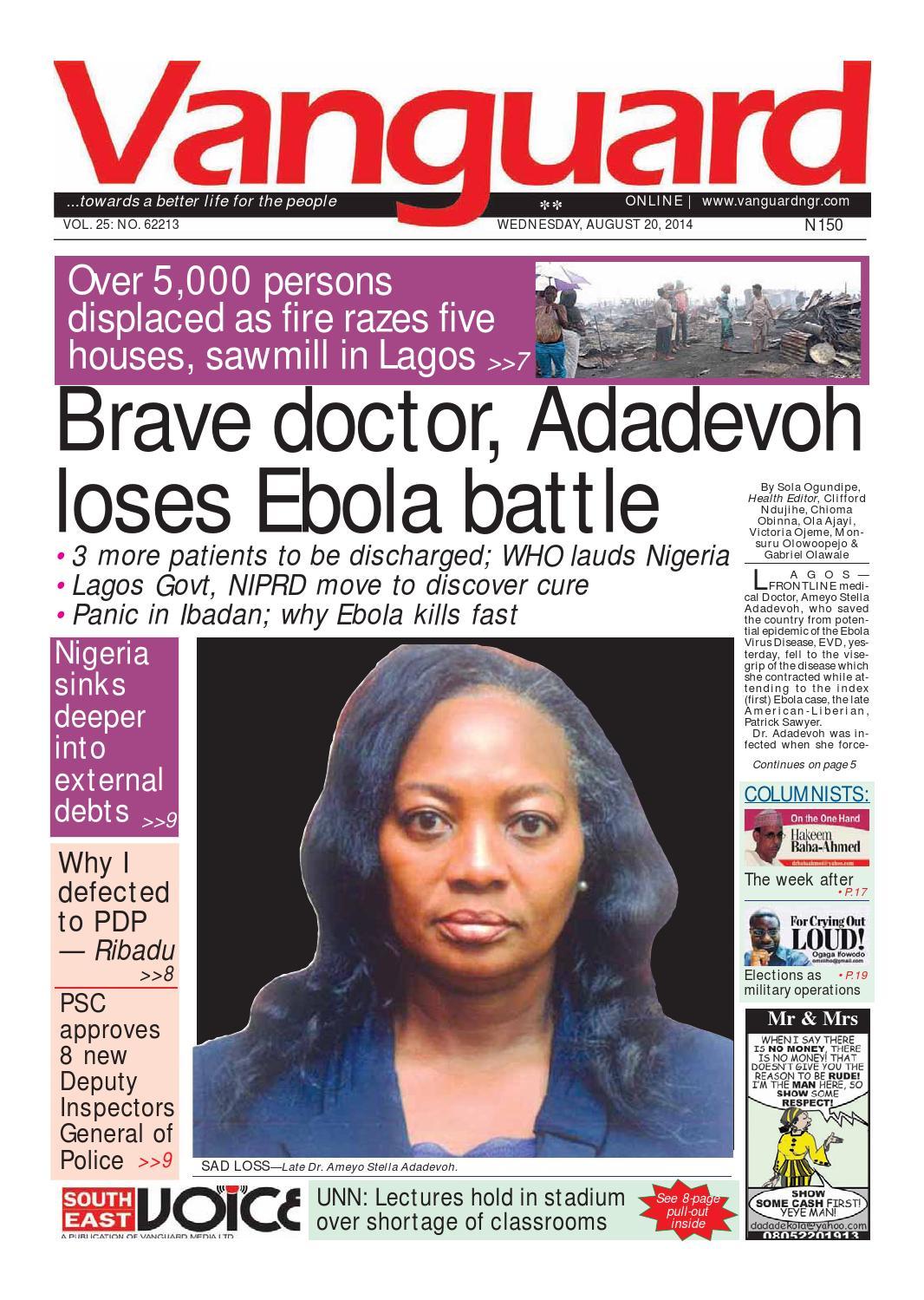 ISSUU - Brave Doctor, Adadevoh loses Ebola battle by ...