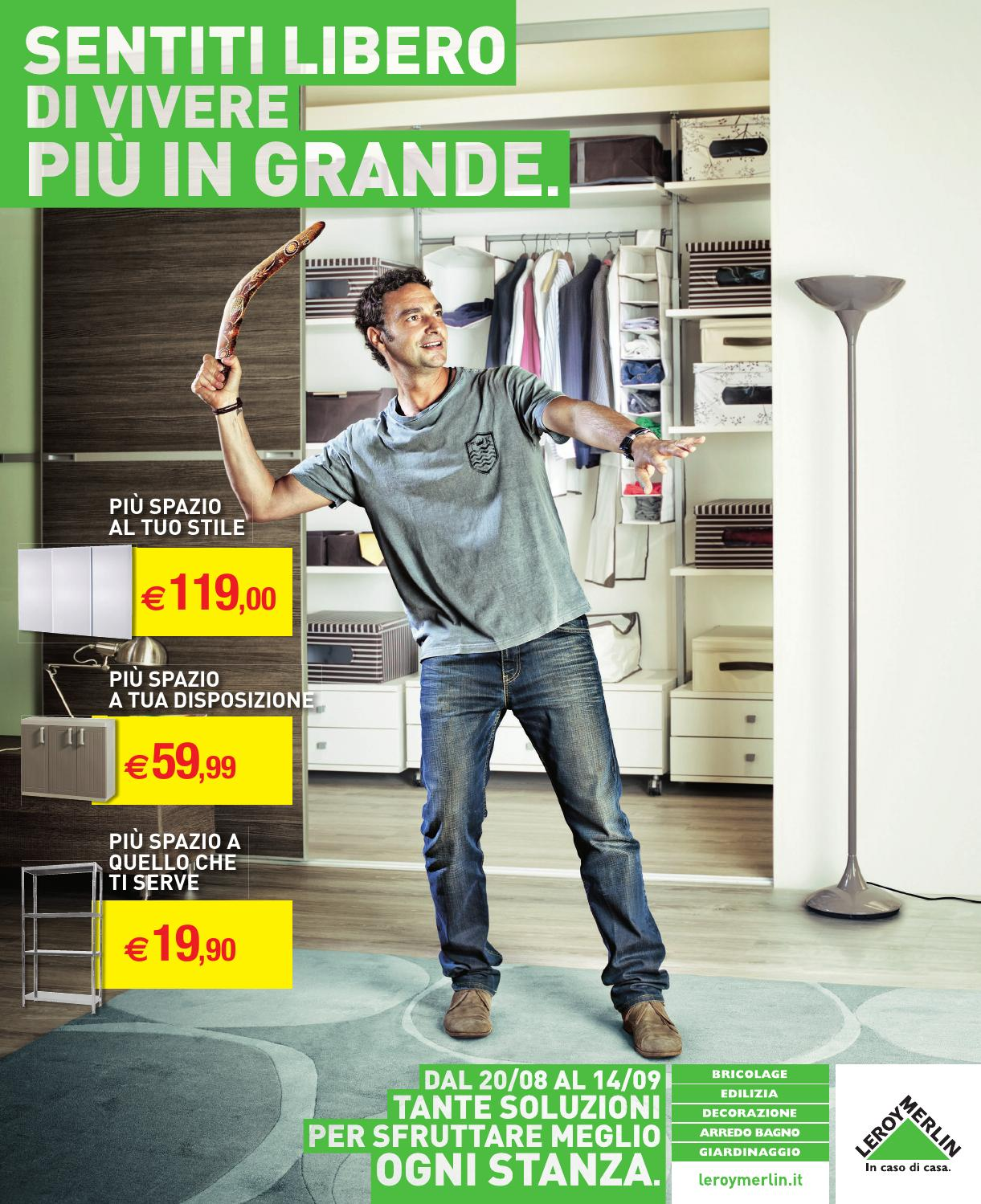 Issuu leroy merlin 20agosto 14settembre2014 by for Volantino bagno leroy merlin